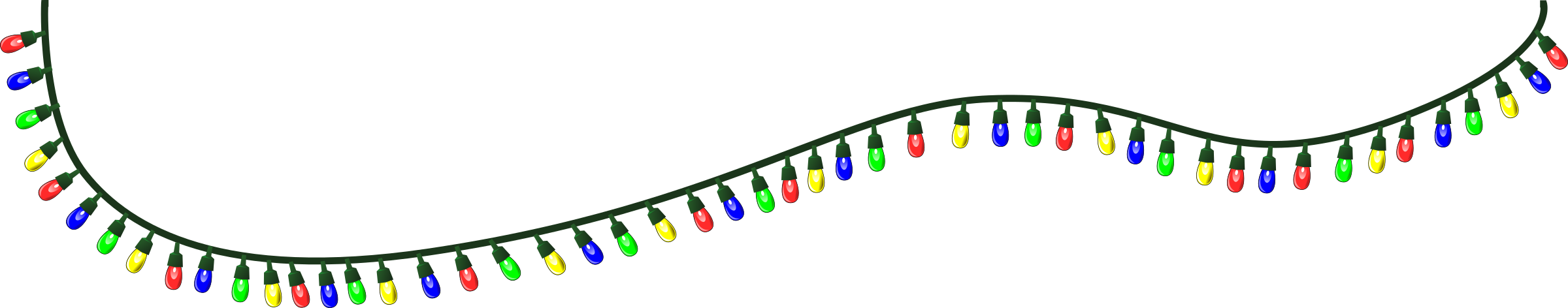 Clipart christmas light. Free lights pictures clipartix