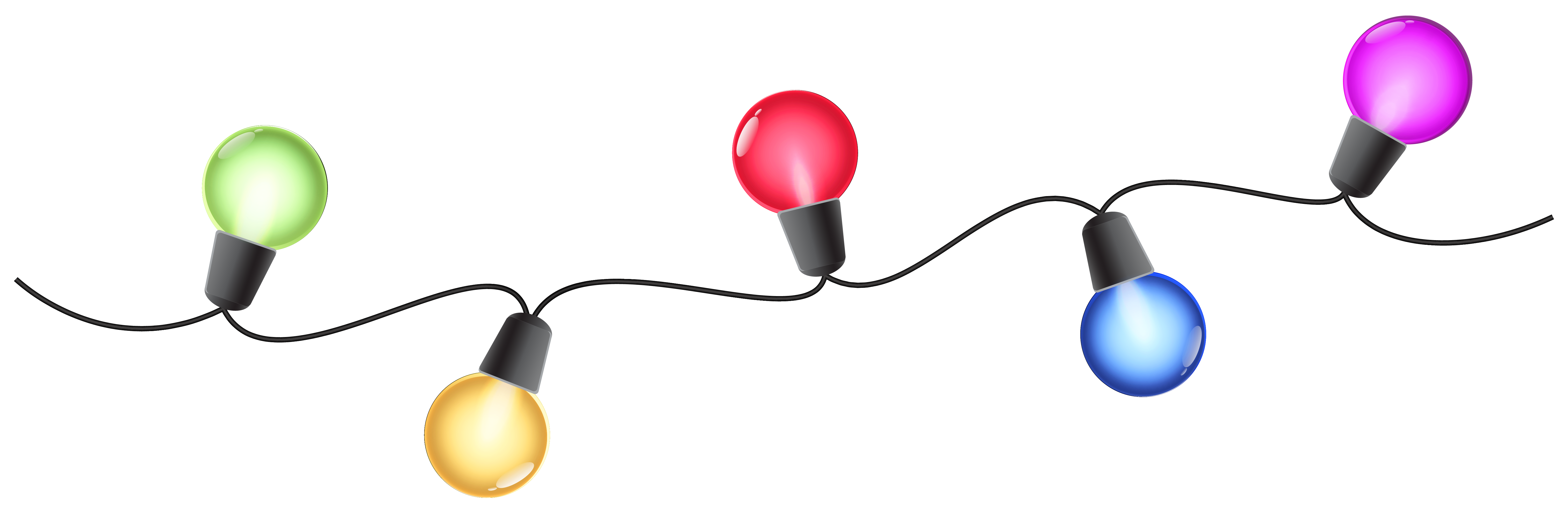 Christmas colorful lights png. Lamp clipart flashlight