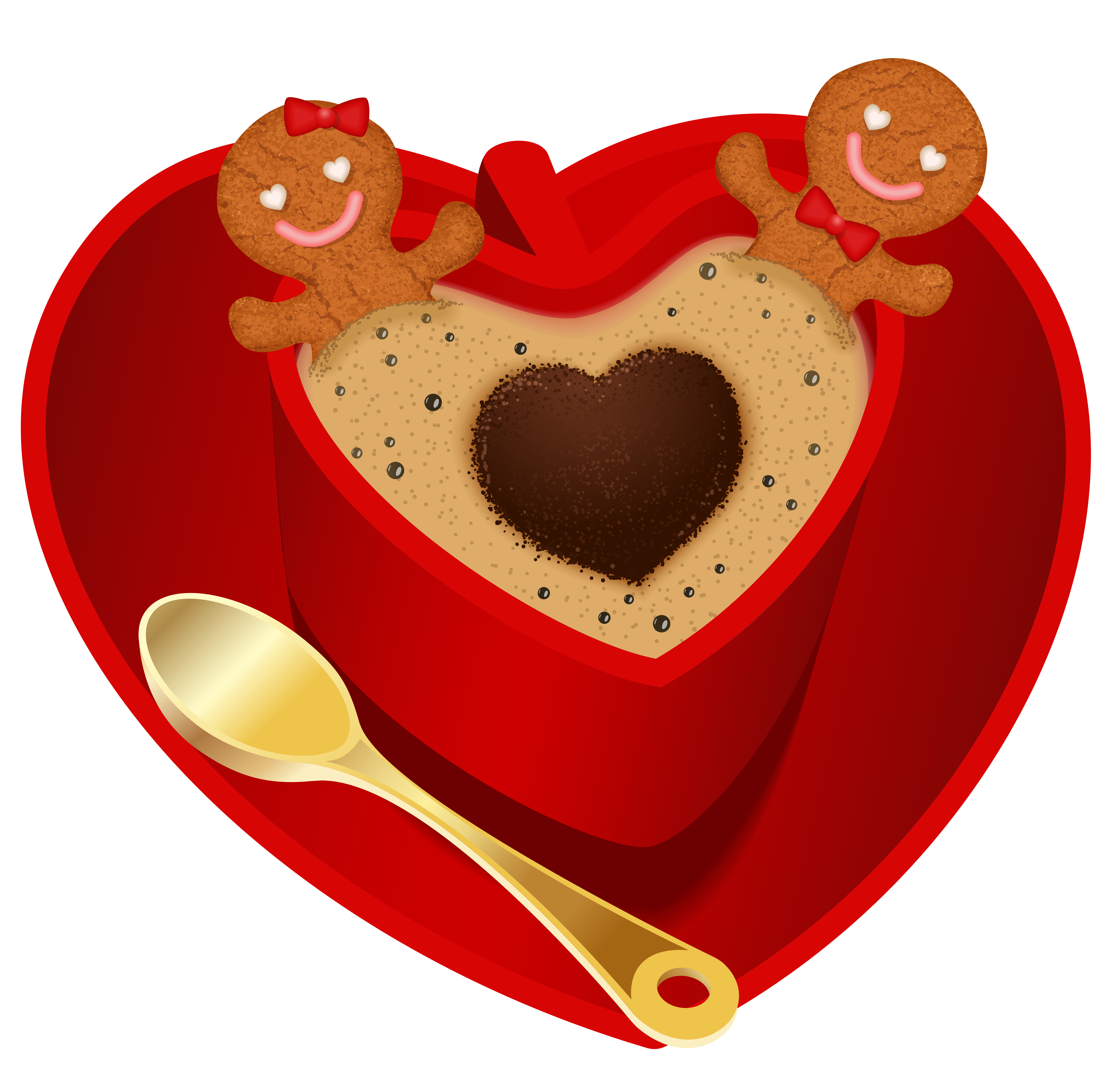 Christmas png clip art. Hearts clipart coffee cup
