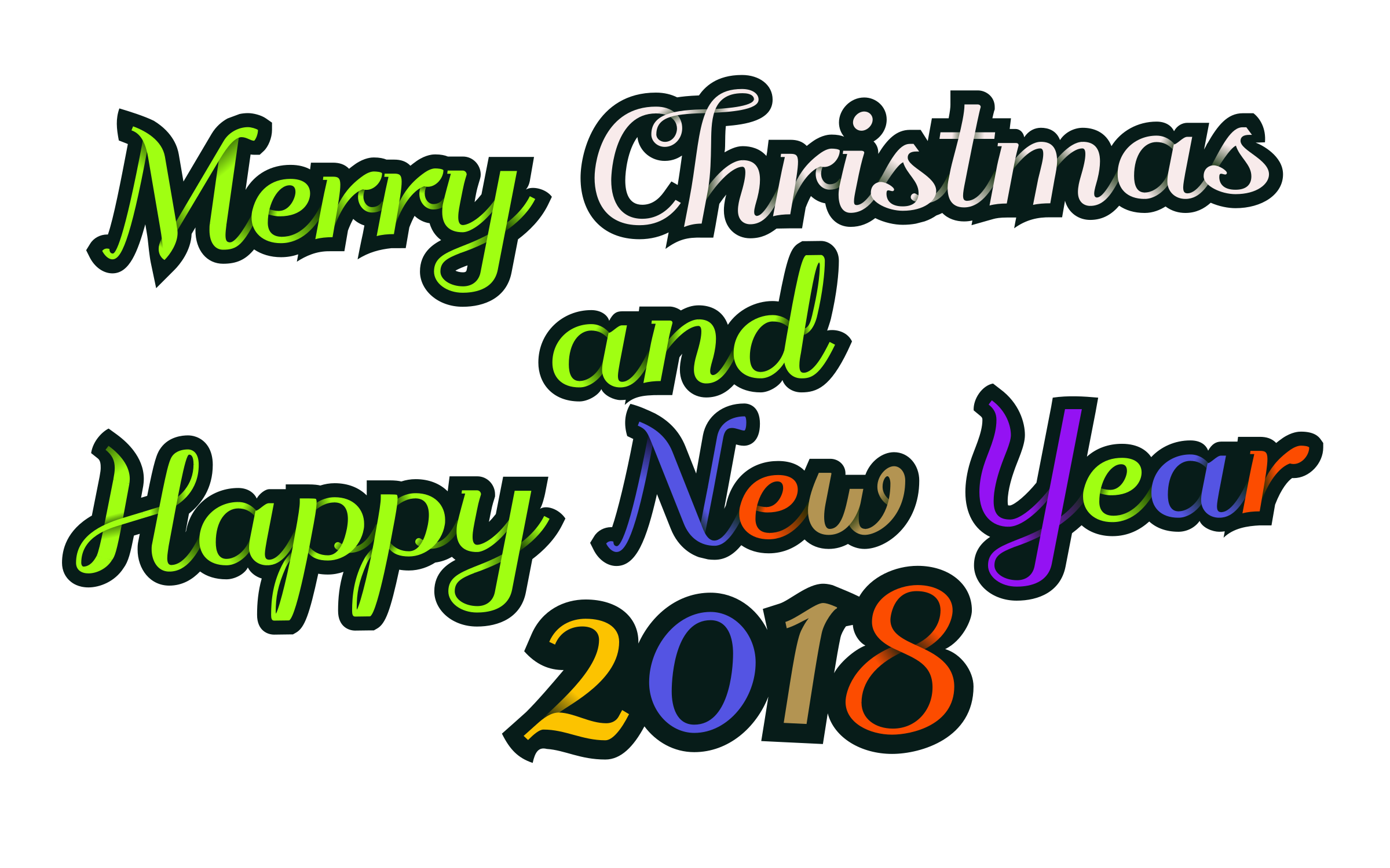 Logo clipart christmas. Merry happy new year