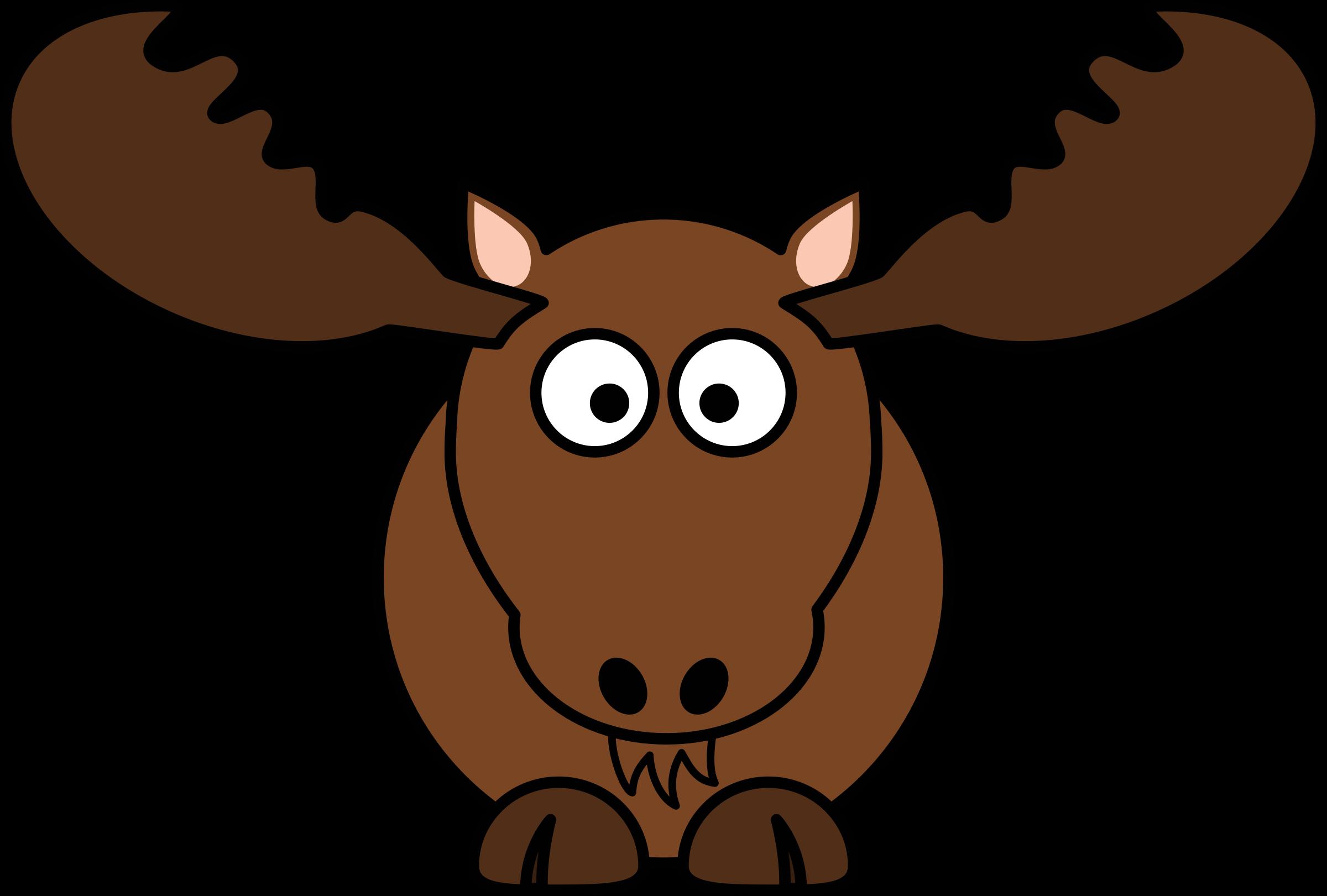 Moose clipart realistic cartoon. Big image png