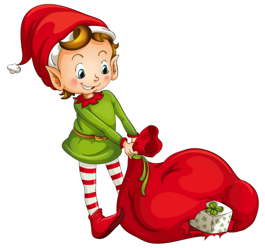 Fat clipart elf. Internal rhyme poems the