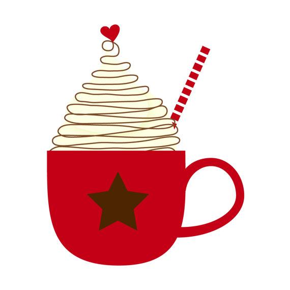 Christmas mug clip art. Winter clipart hot chocolate