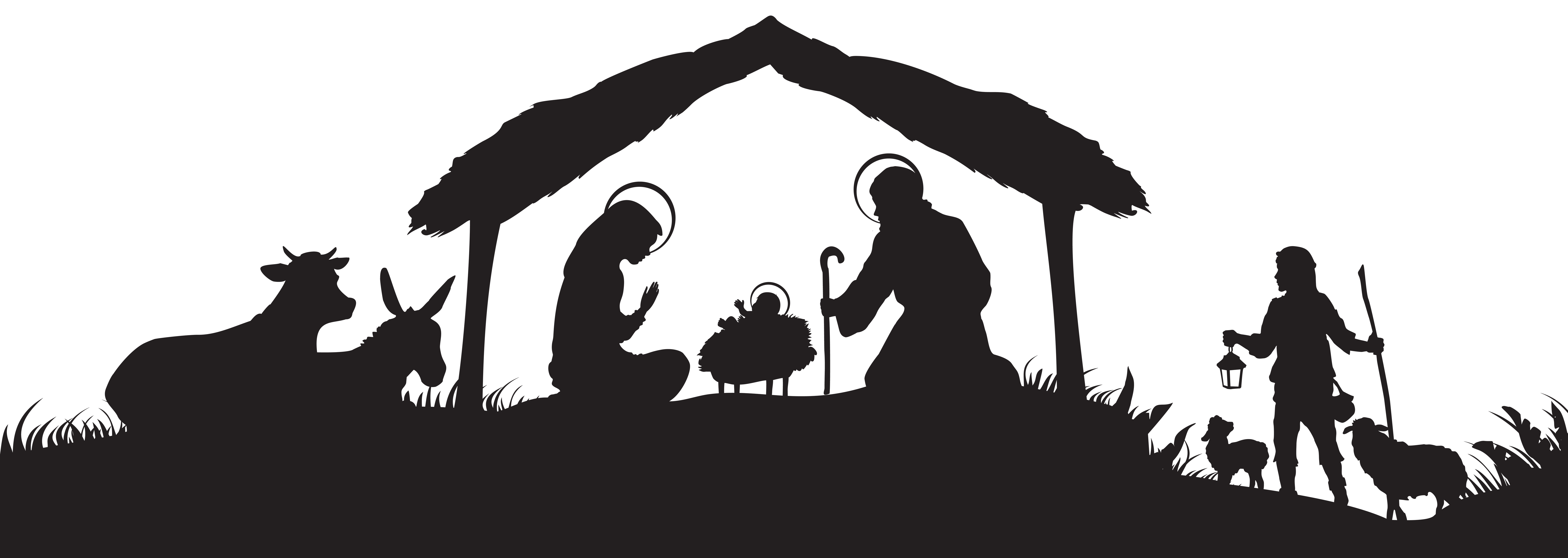 Lds clipart silhouette. Christmas nativity scene png