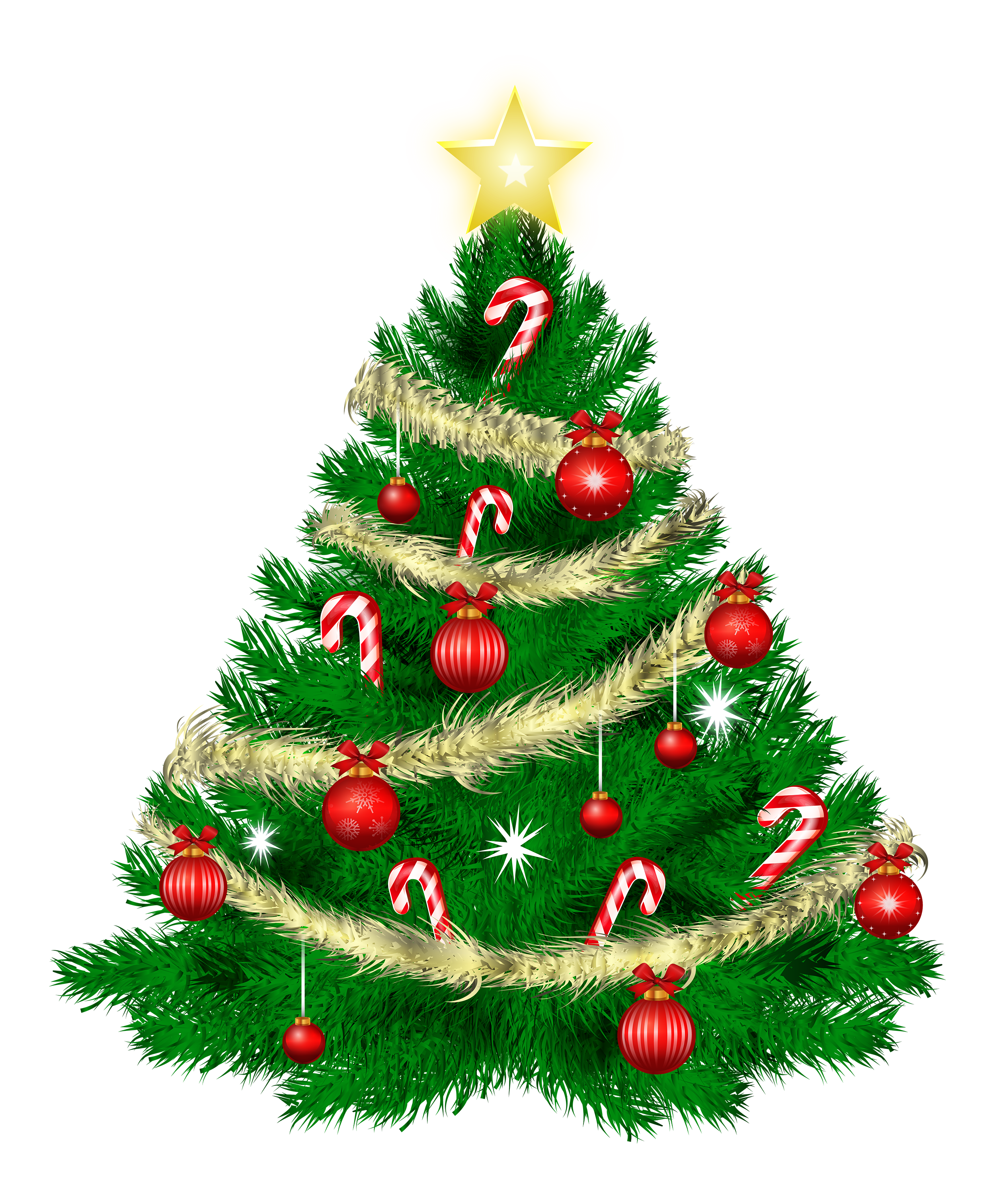 Tree with ornaments and. Png christmas images