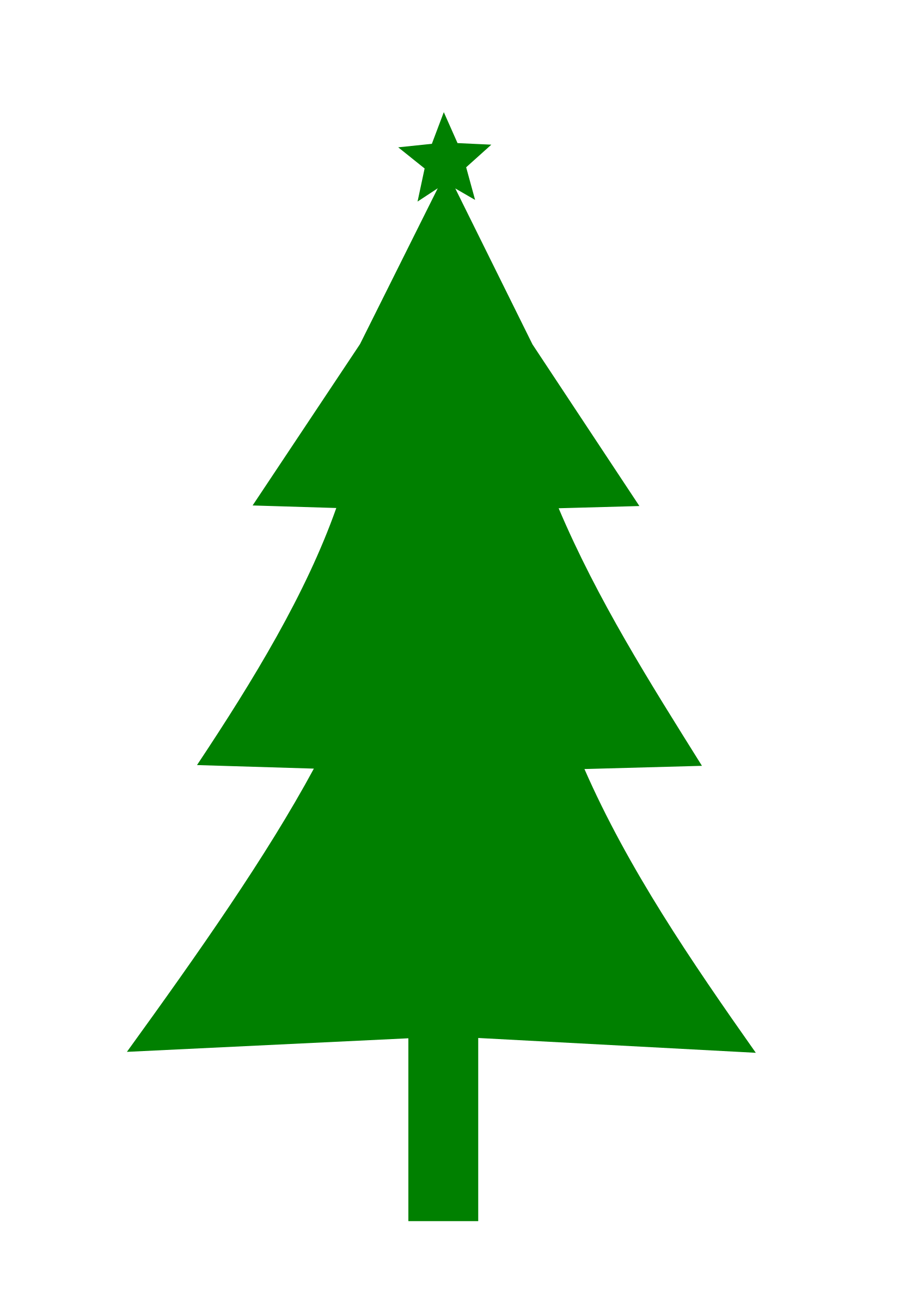 Christmas silhouette big image. Tree clipart evergreen