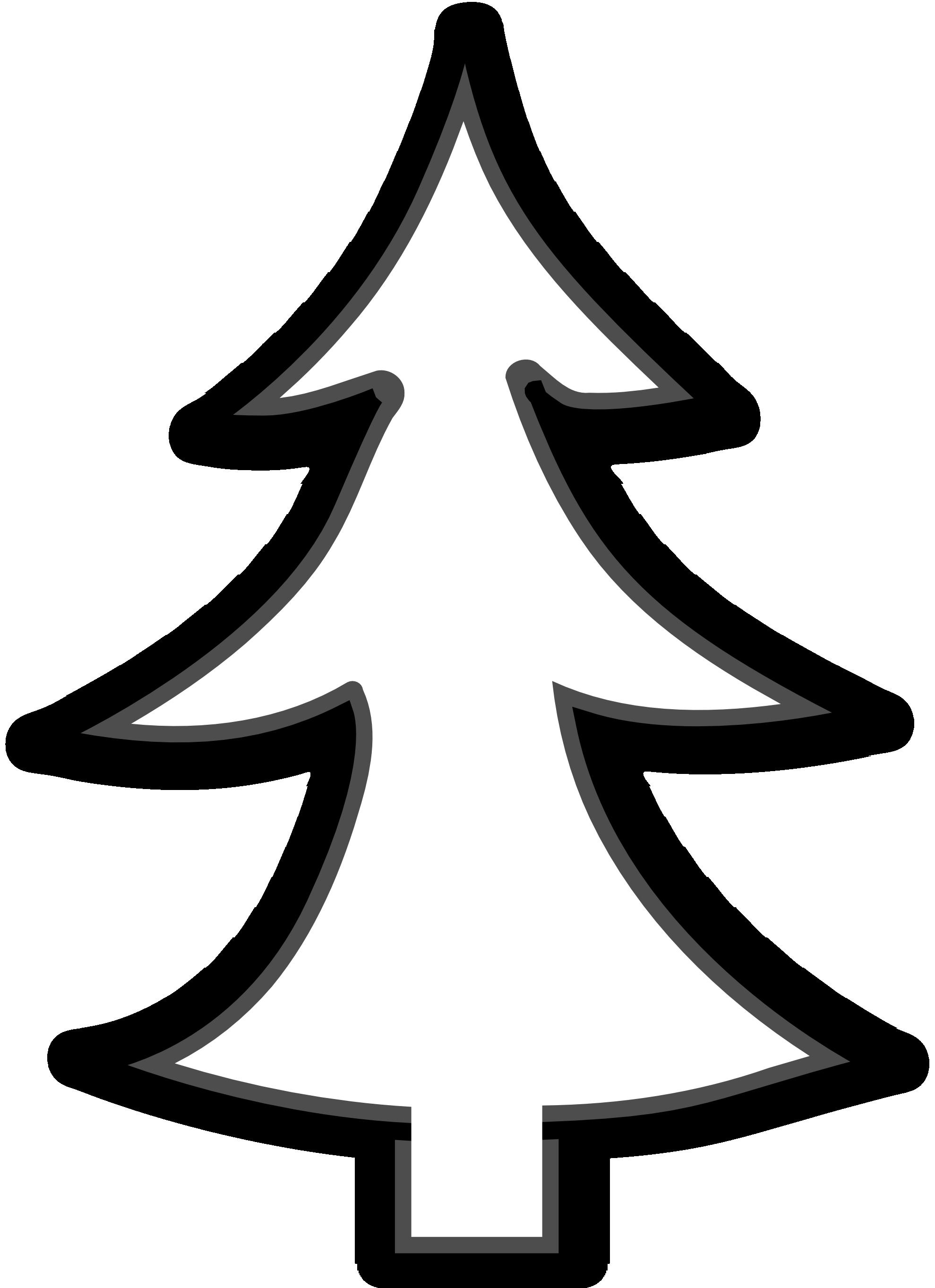 Clip art christmas tree. Clipart halloween outline