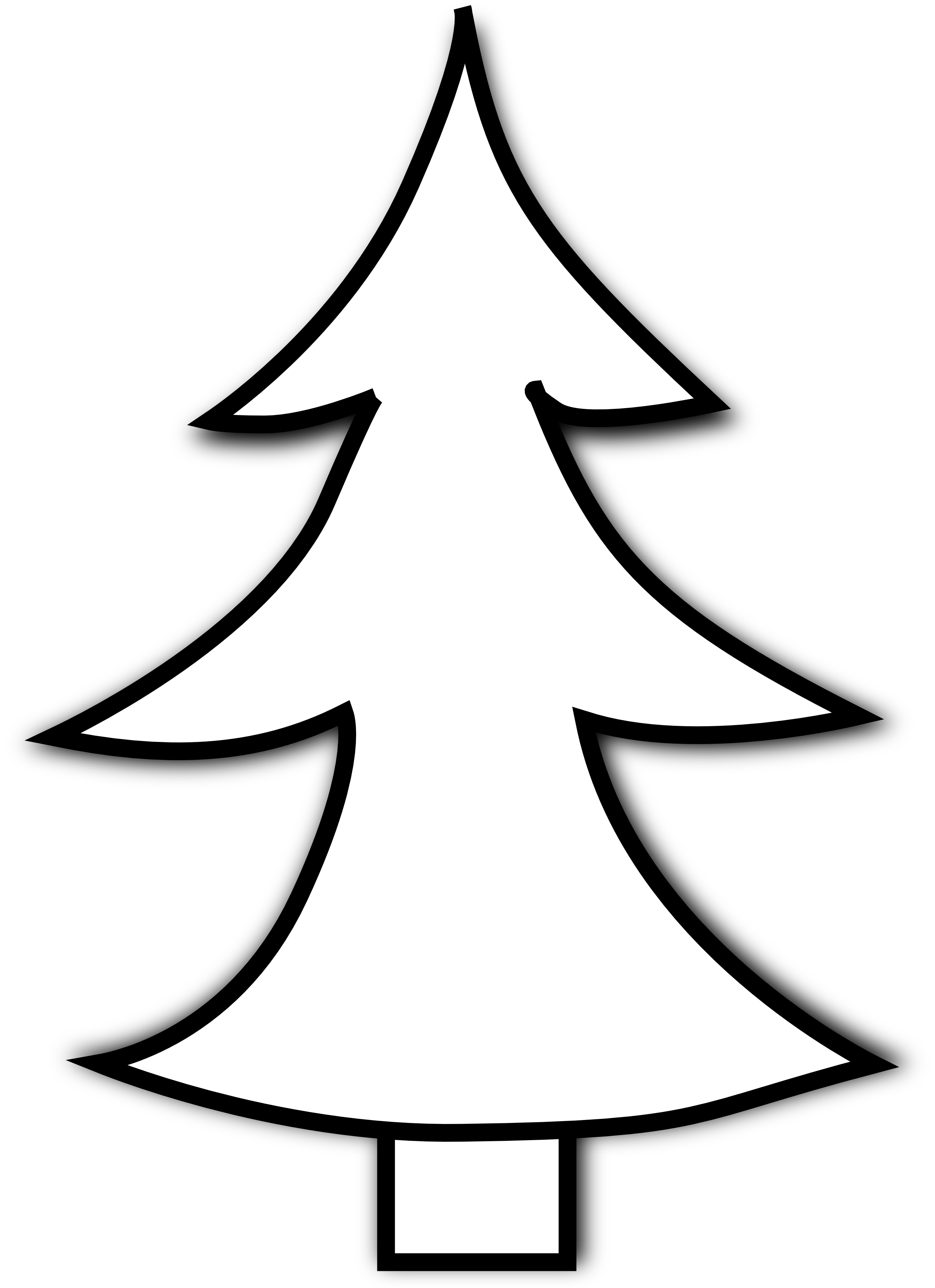 collection of christmas. Cross clipart tree