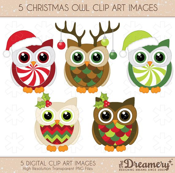 Owls clipart christmas. Pin on lexi loves