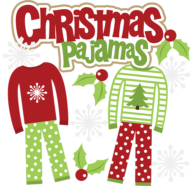 Christmas pajamas christmaspajamas miss. Holidays clipart pajama party