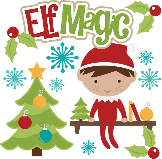 Elf magic svg files. Cookbook clipart christmas