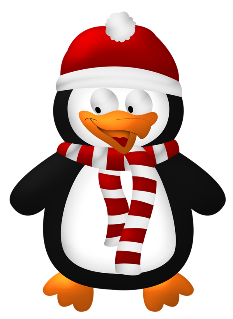 Cute christmas penguin transparent. Clipart socks winter