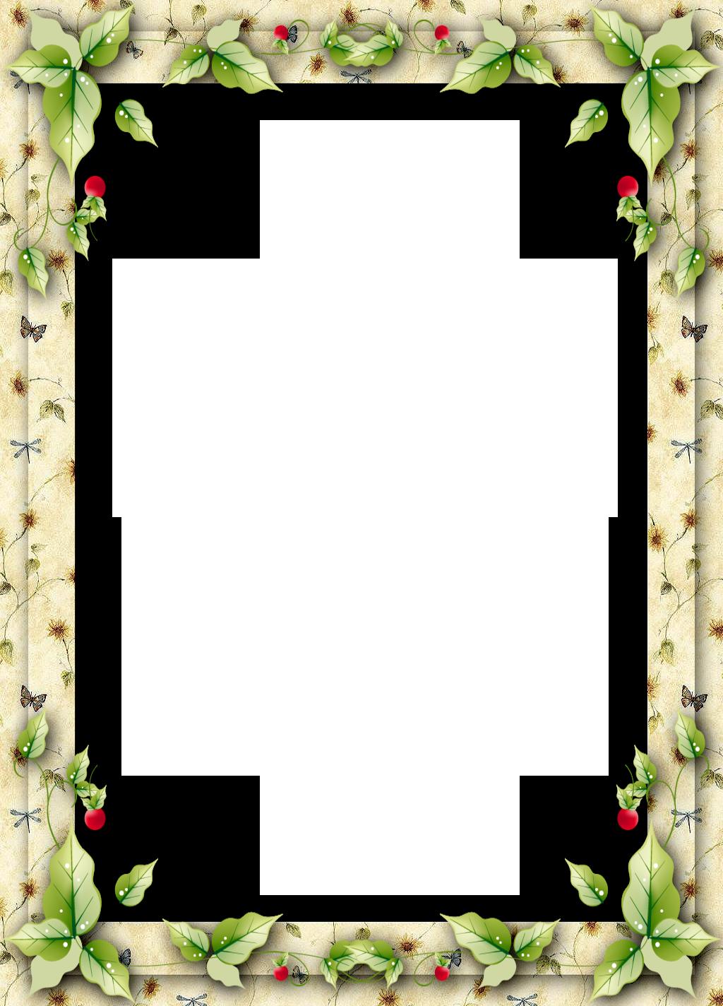 Frame clipart xmas. Christmas with mistletoe leaves