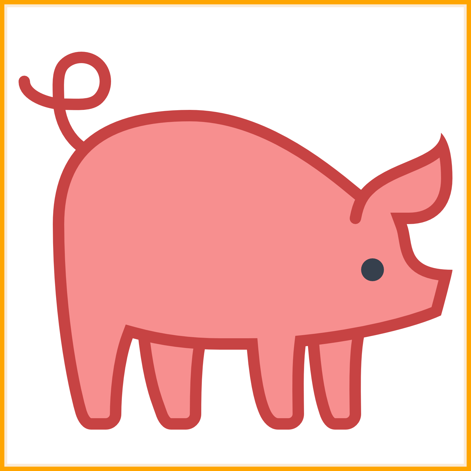 Pig at getdrawings com. Exercise clipart cute