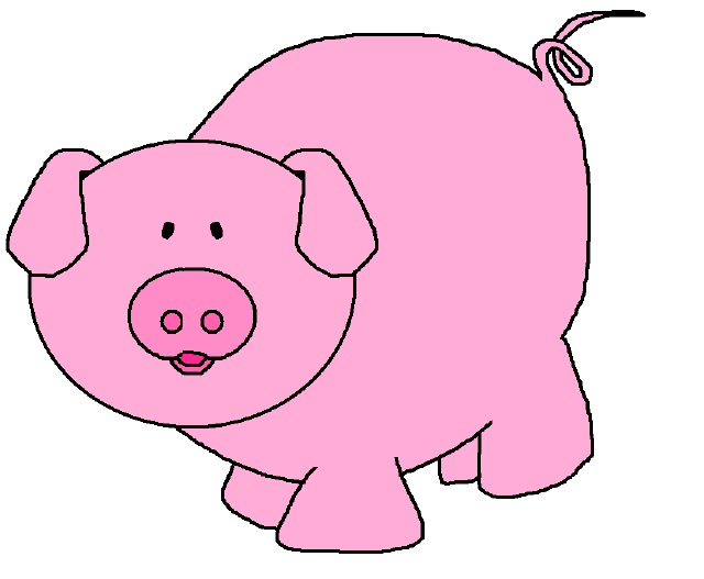 The top best blogs. Pig clipart pink