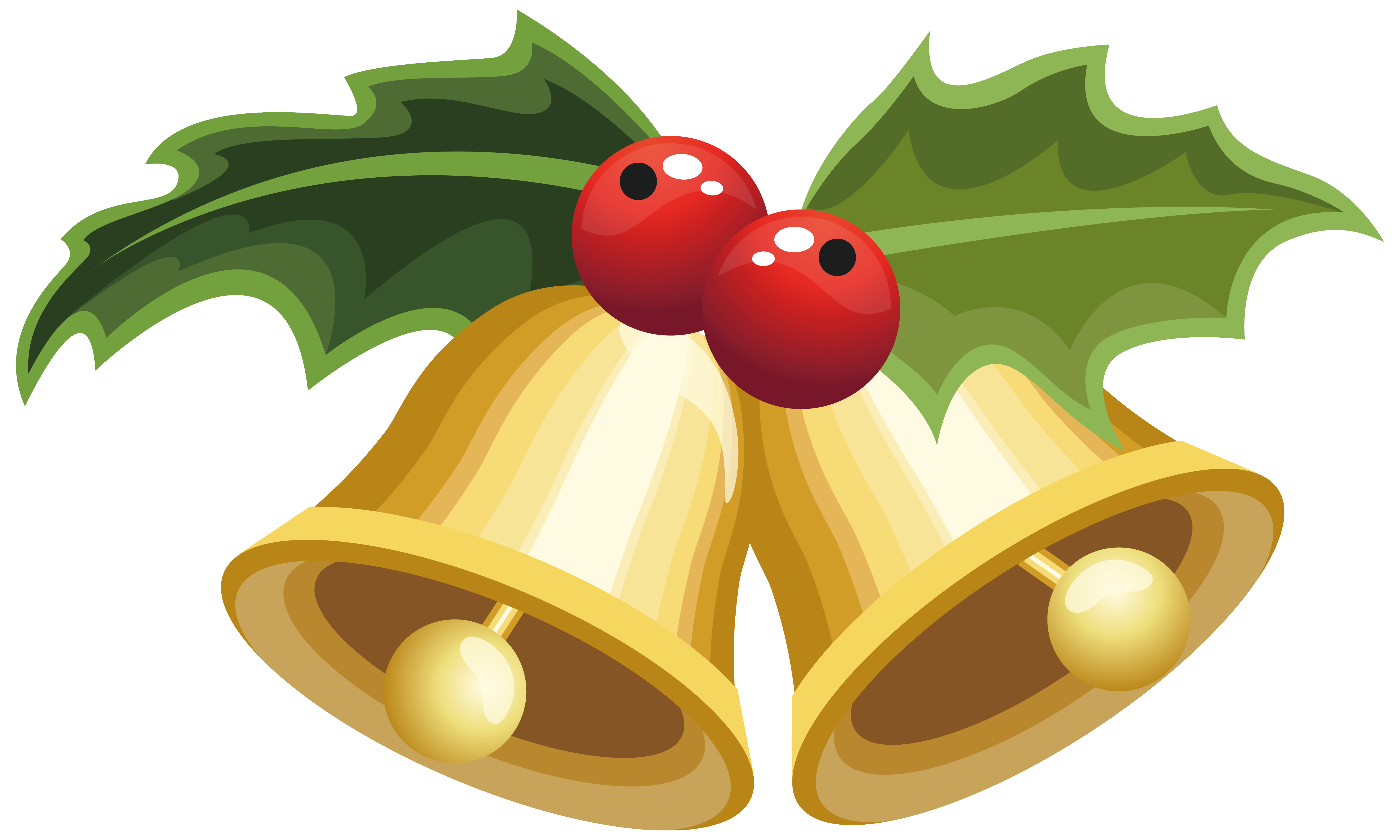 Bells with mistletoe png. Healthy clipart christmas