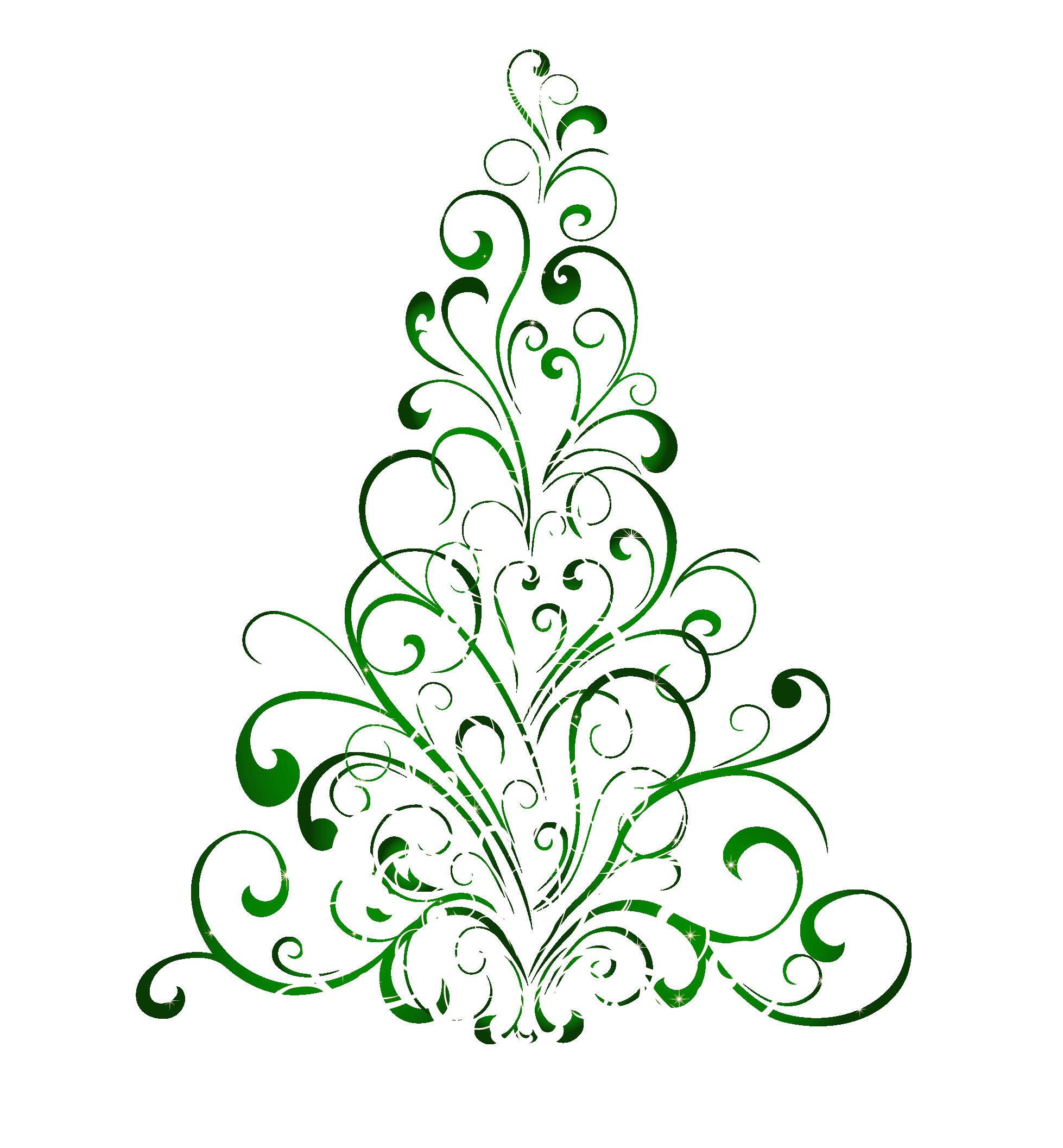 Flourish clipart christmas. Free tree public domain