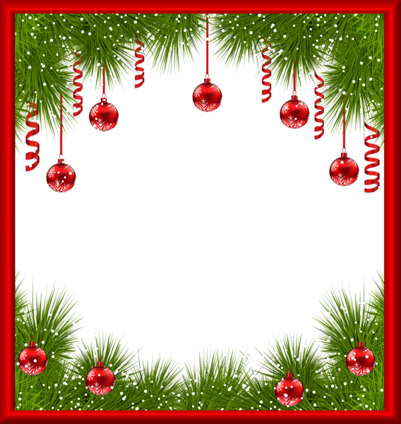 Png transparent frame with. Clipart christmas printable