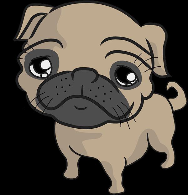 Clipart dogs pug. On behance pugs pinterest