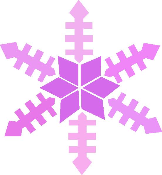 Purple snowflake clip art. Winter clipart boarder