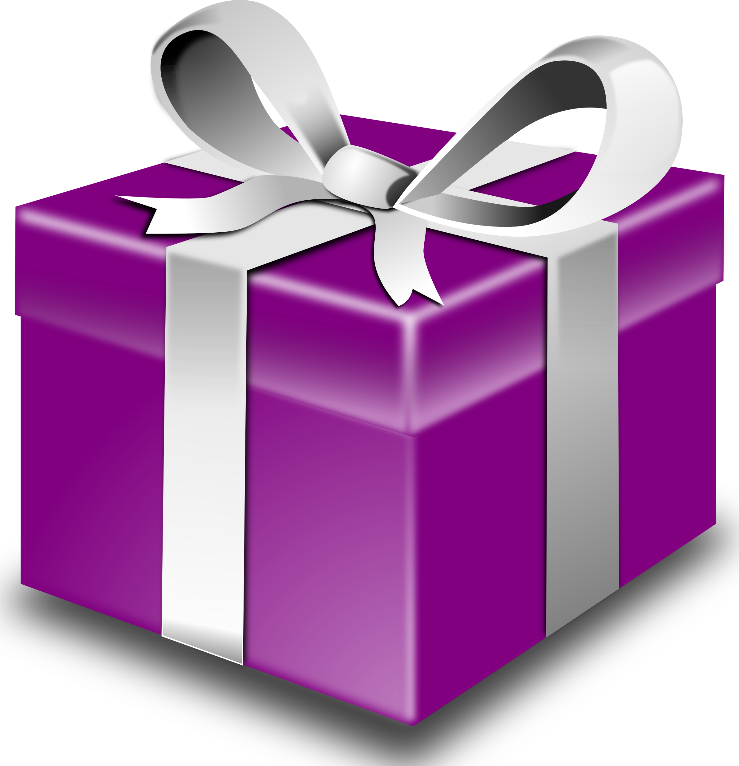 Purple big image png. Clipart present bithday