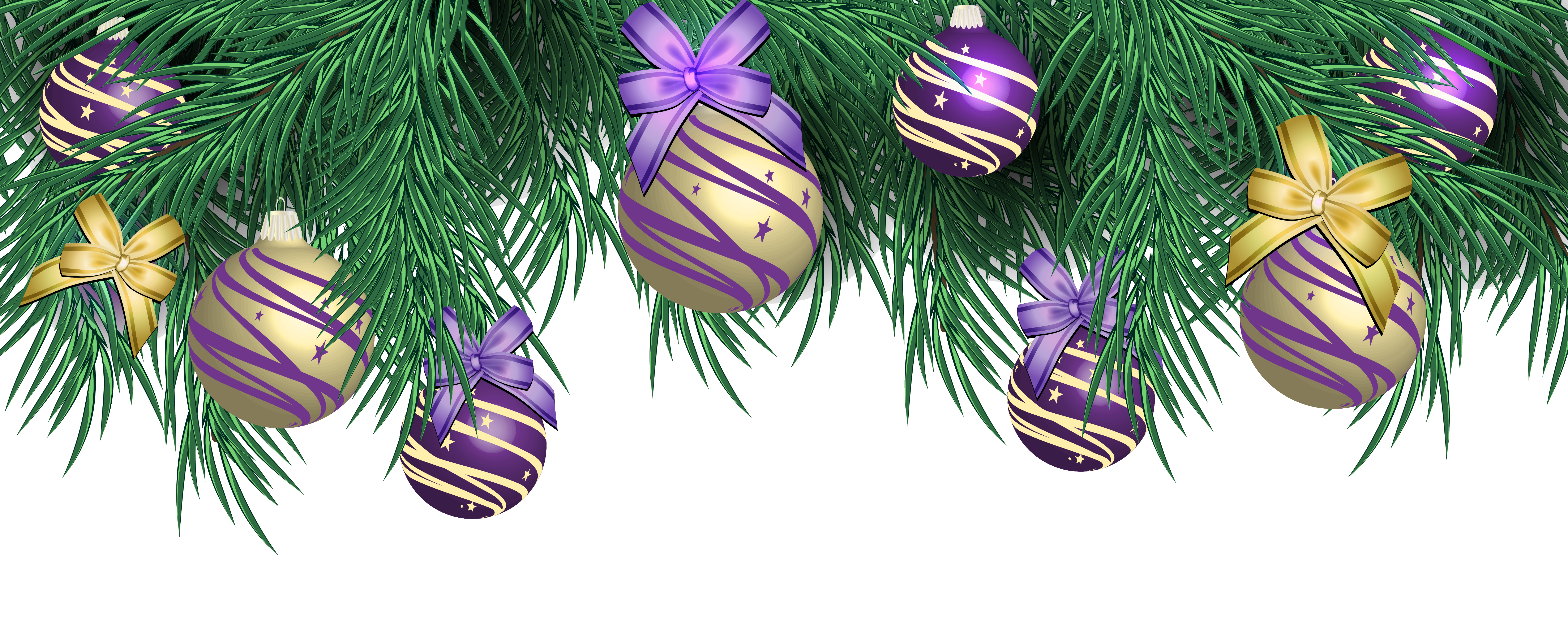 Clipart christmas purple. Transparent pine decor with