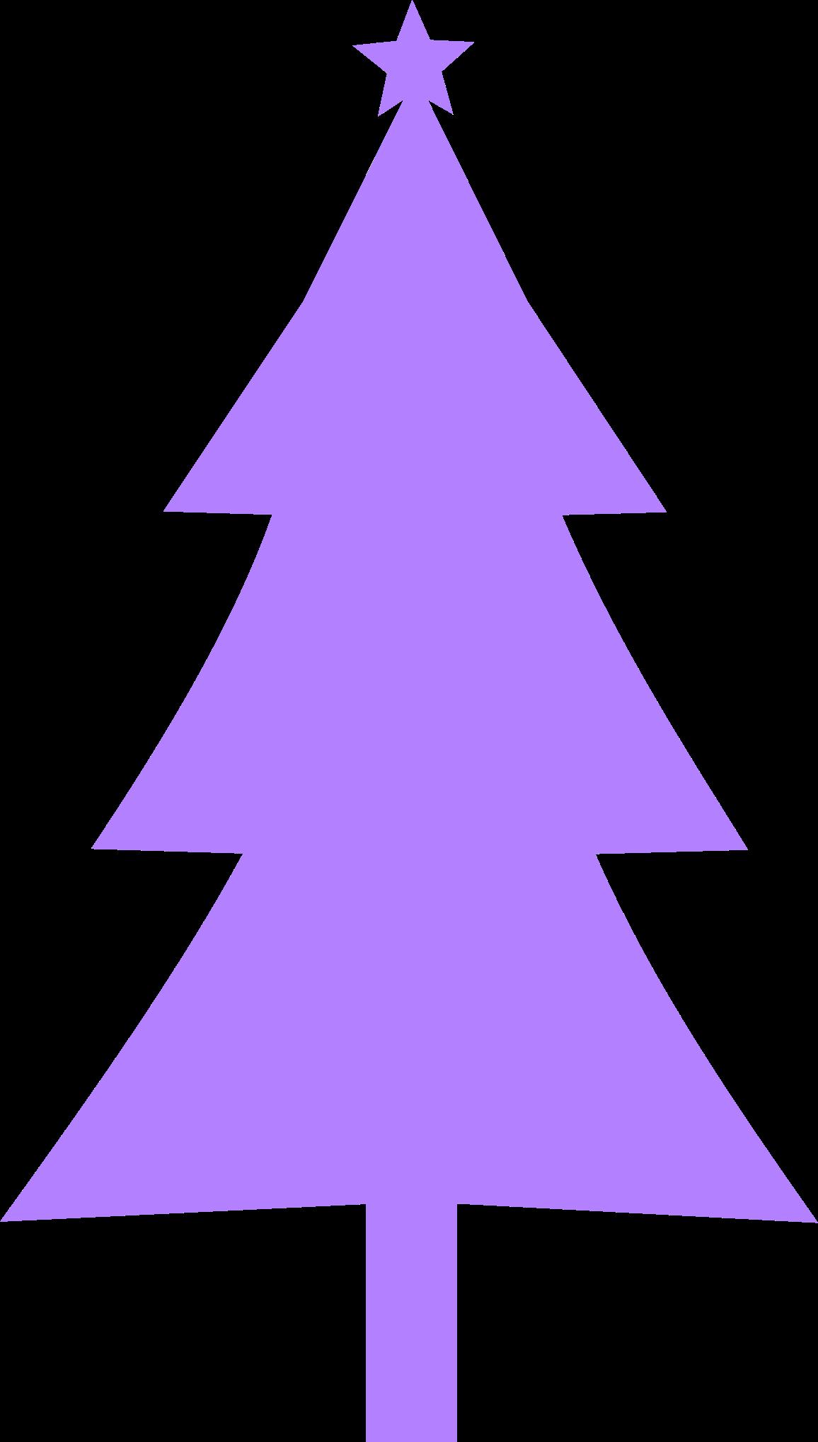 Clipart christmas purple. Tree silhouette big image