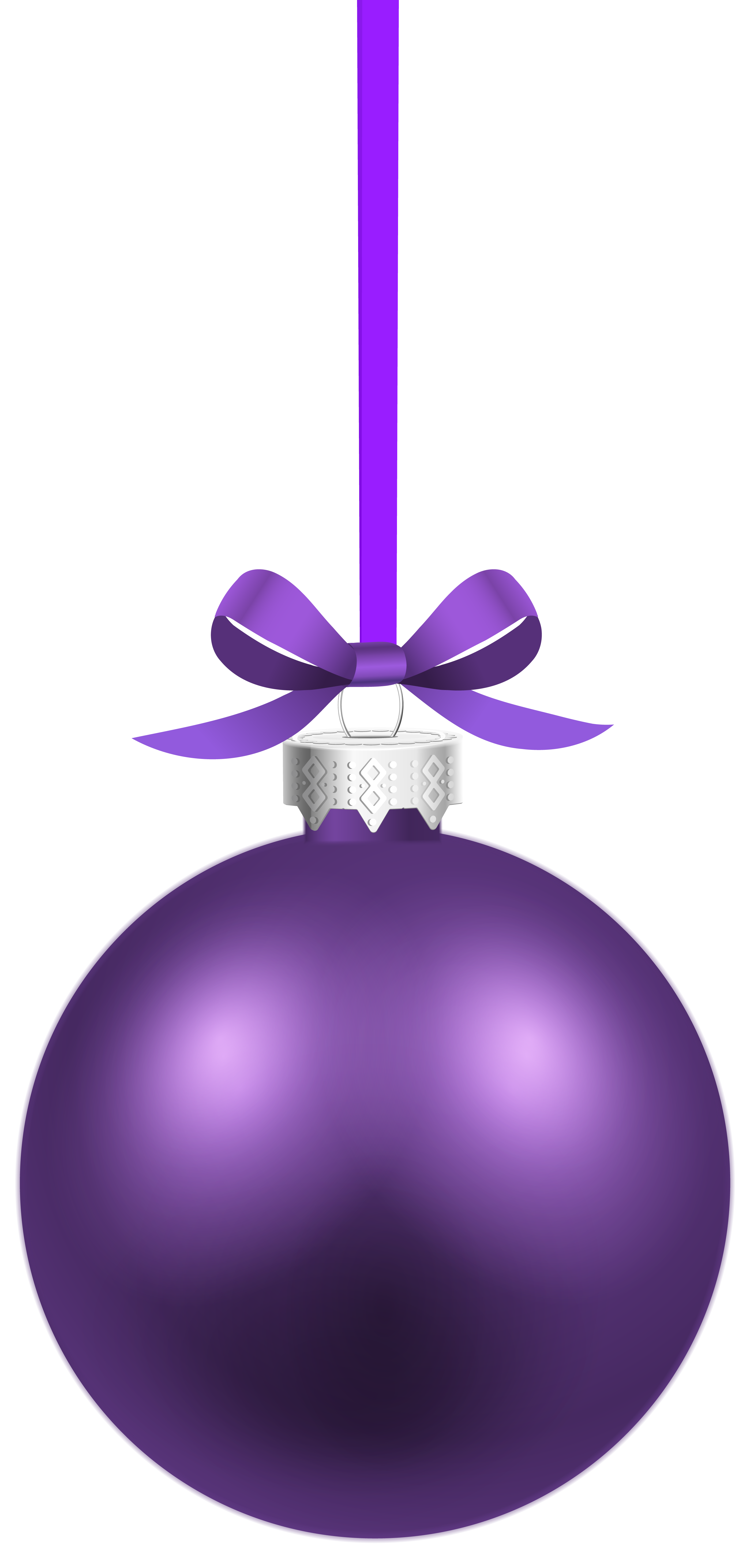 Clipart christmas purple. Hanging ball png image