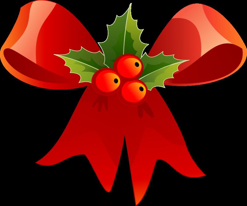 Holly clipart email. Christmas ribbon medium image