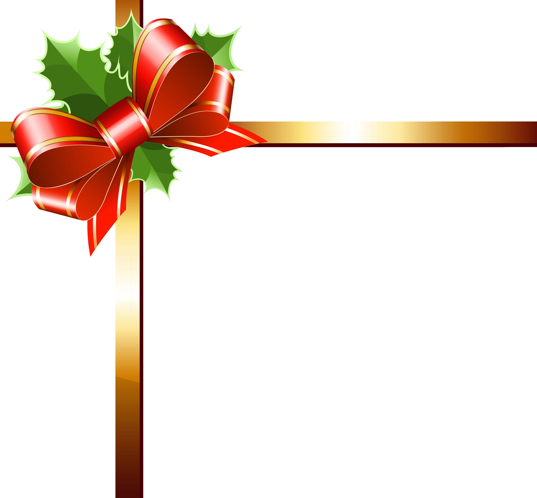 Clipart fall frame. Christmas gold ribbon png