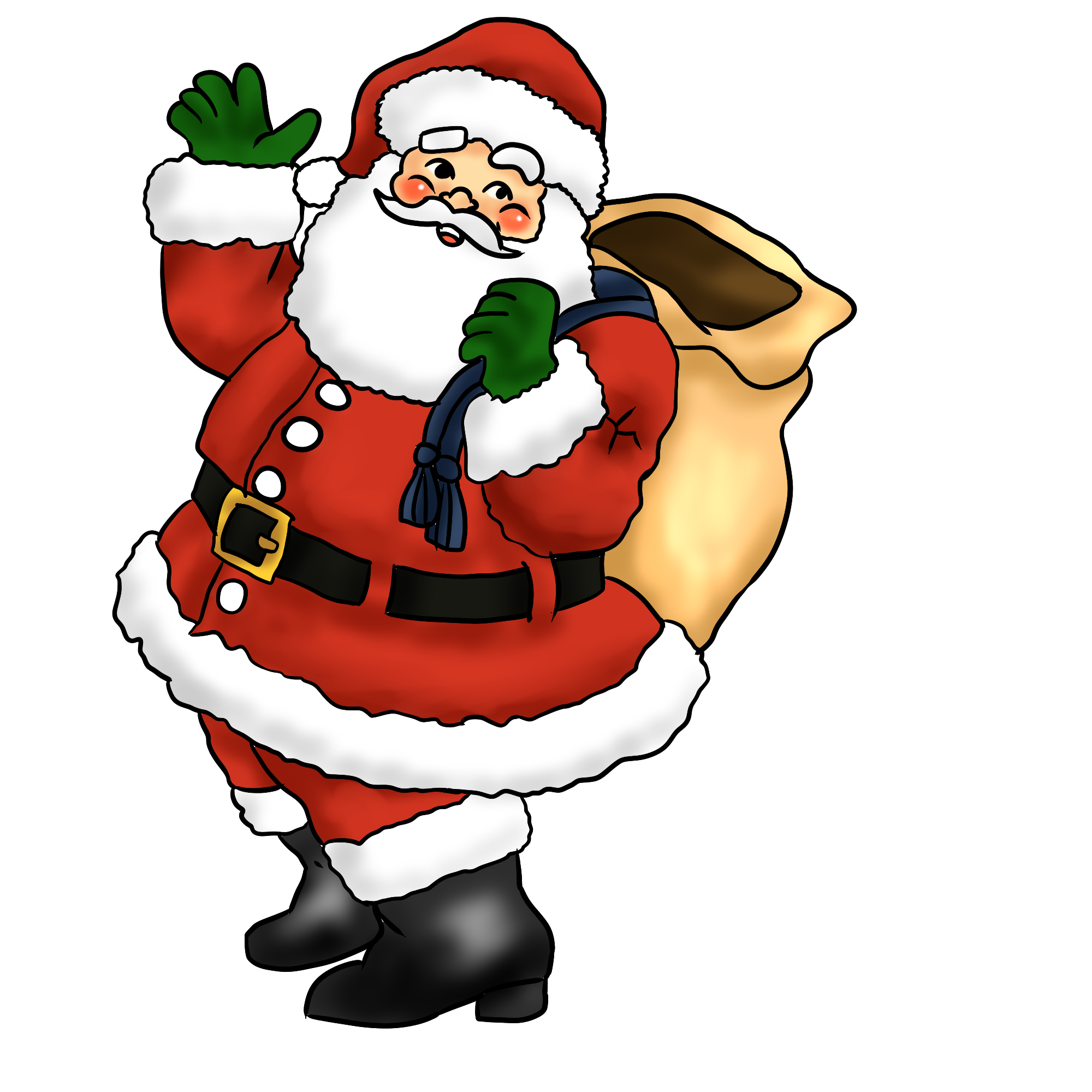 Christmas claus . Hungry clipart santa