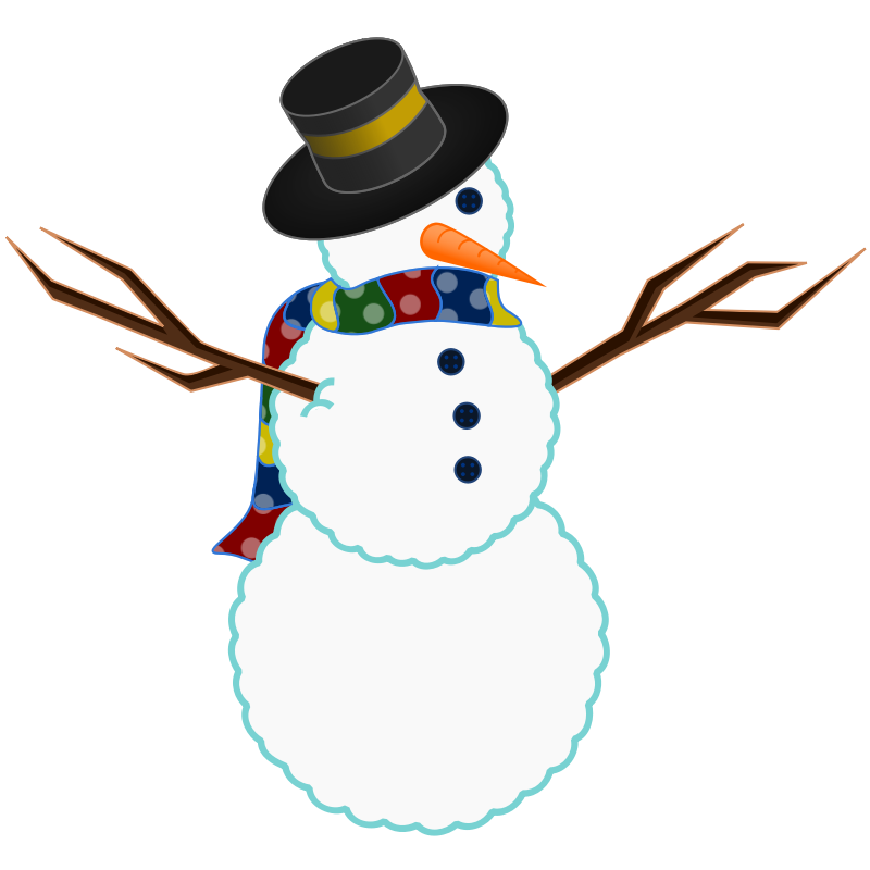 Make clipart snowman clipart. Easy christmas at getdrawings