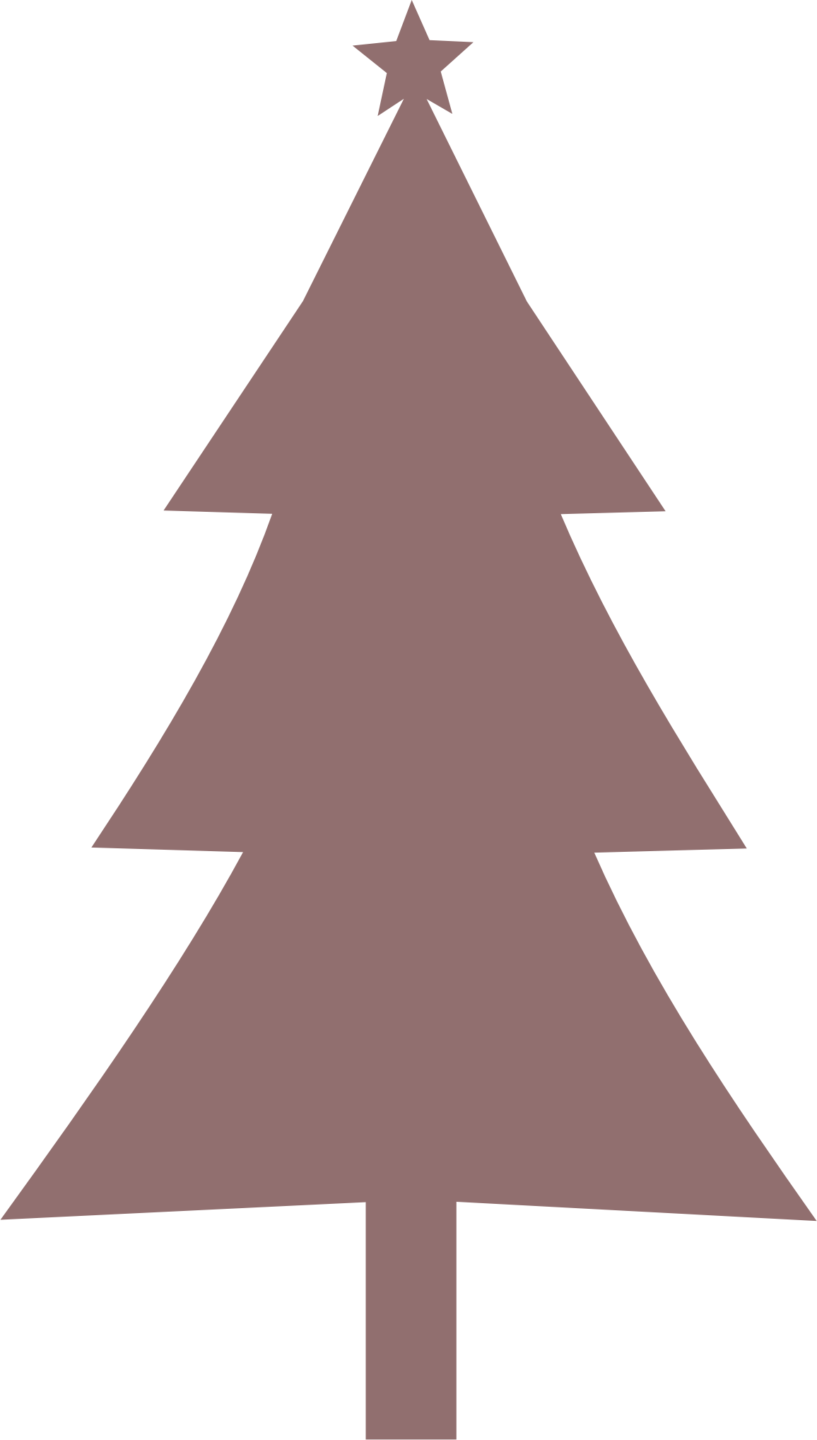 Christmas silhouette big image. Clipart tree pencil