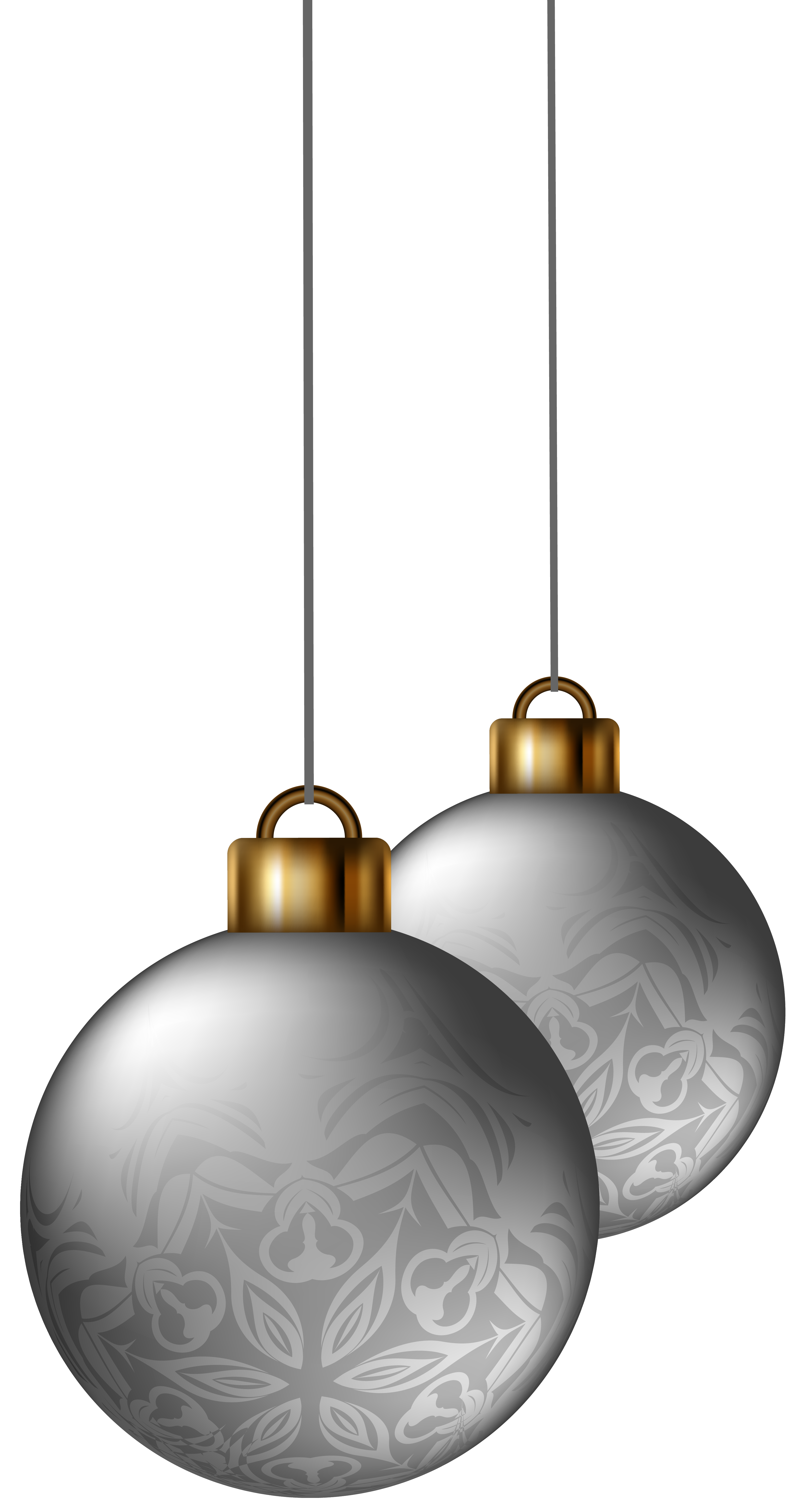 Balls png image gallery. Clipart christmas silver