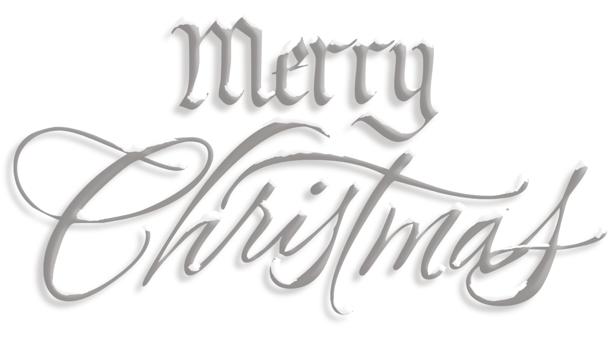 Merry snow text transparent. Clipart christmas silver