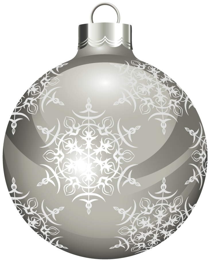 Clipart christmas silver. Transparent ball gallery yopriceville