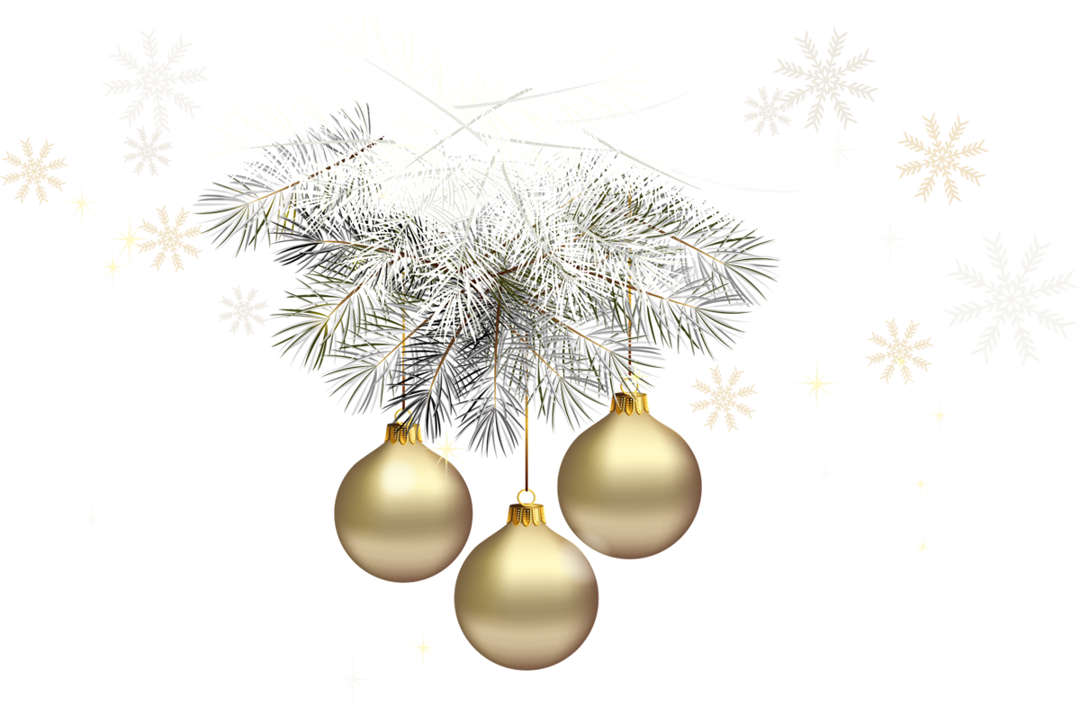 Gold transparent balls with. Clipart christmas silver