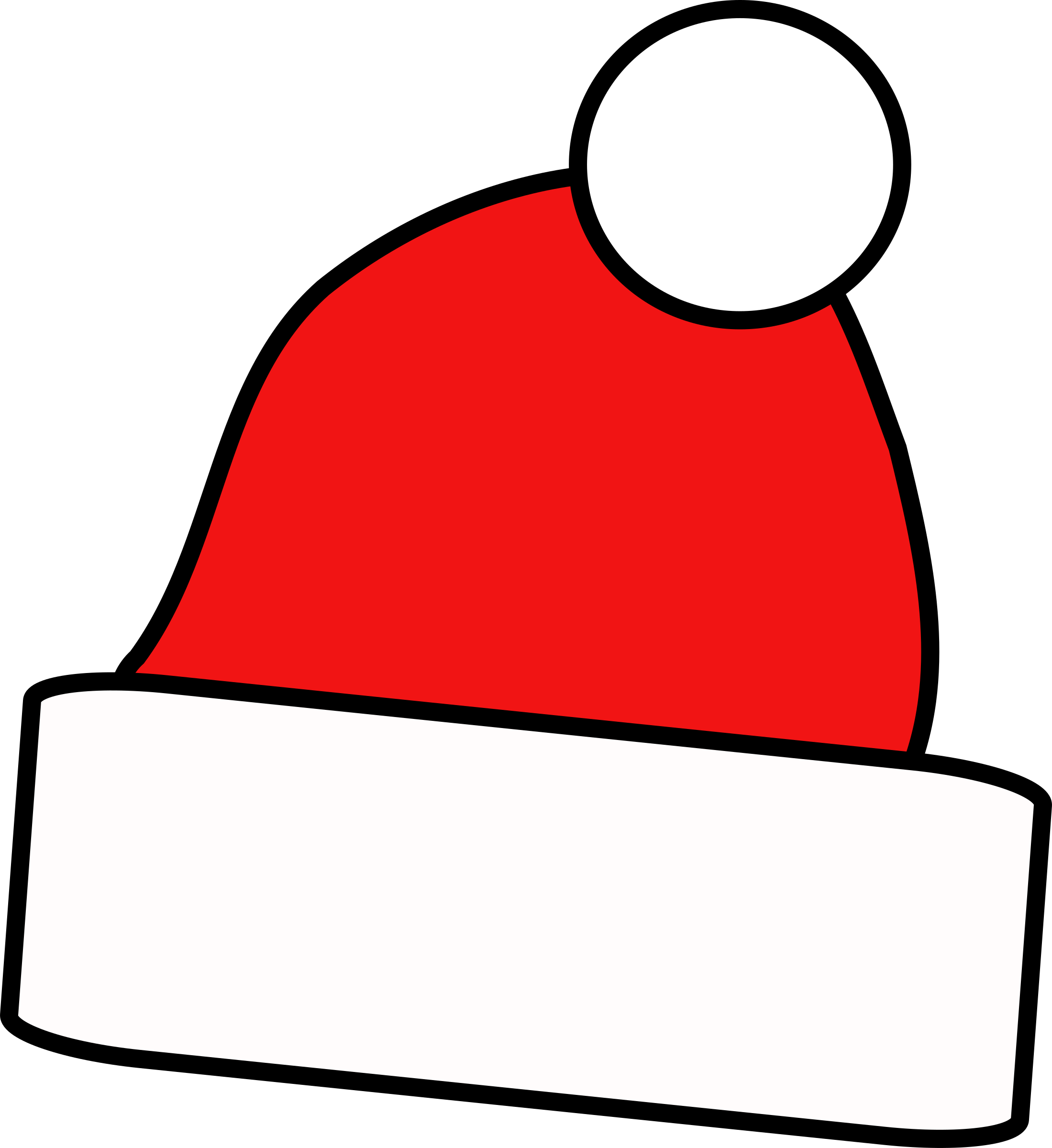 Holly clipart easy. Christmas hat big image
