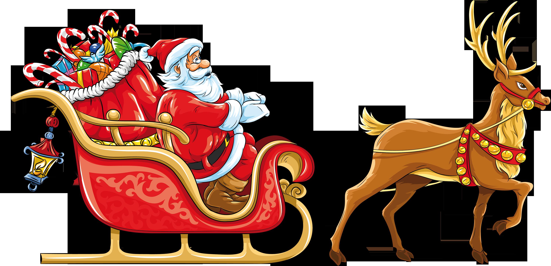 Sleigh clipart deer. Santa png