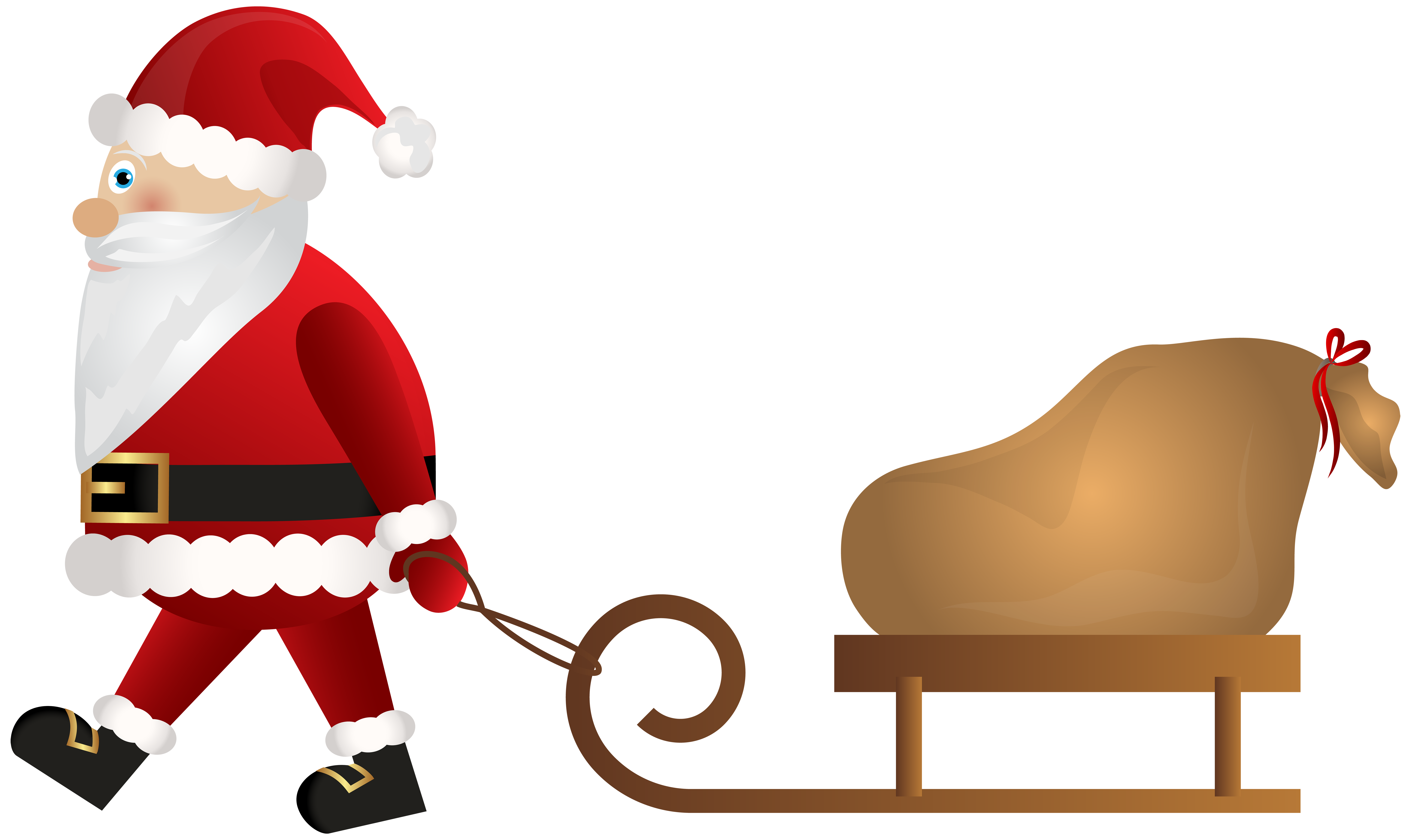 Sleigh clipart wooden sled. Santa claus with png