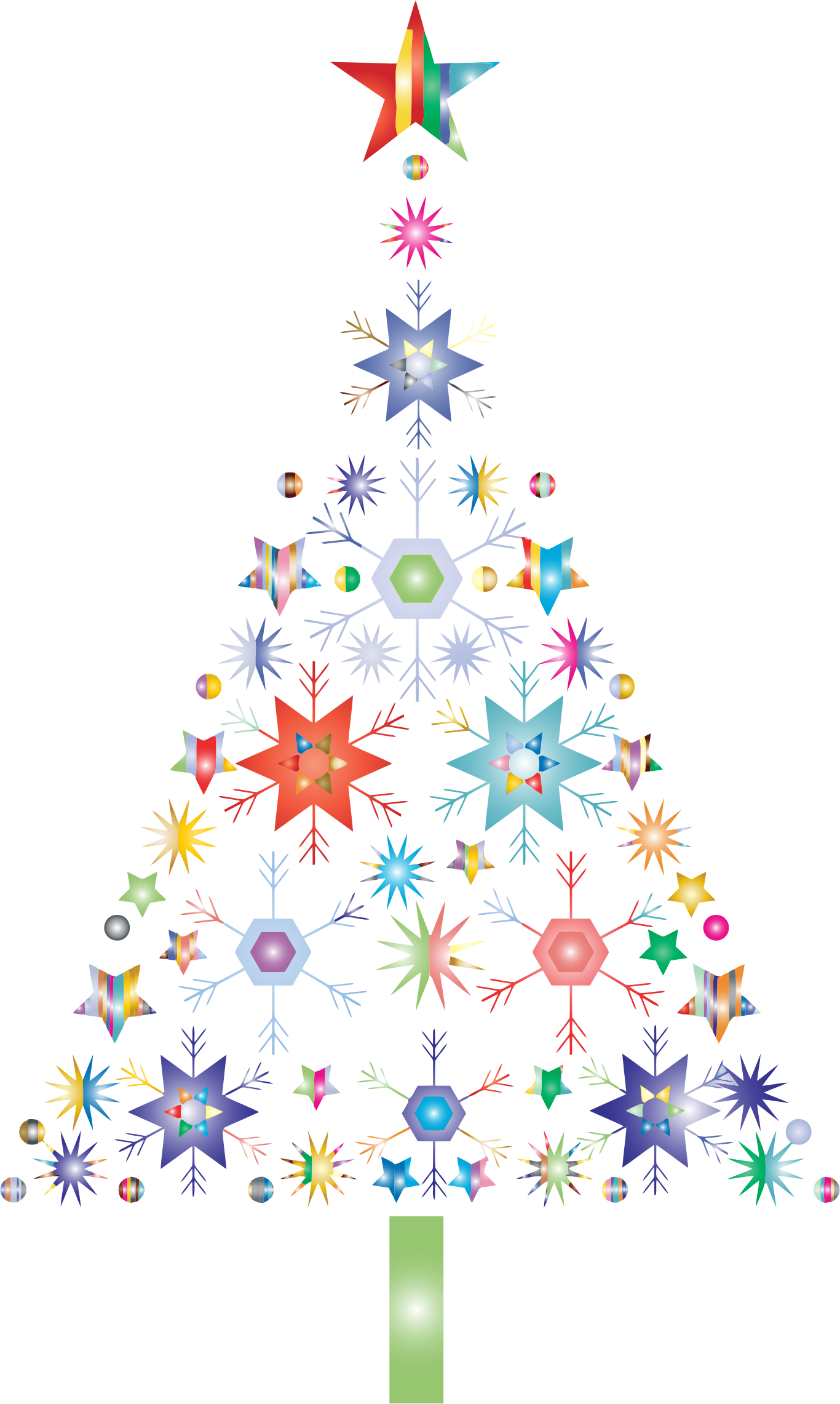 Abstract snowflake by karen. Fern clipart christmas tree