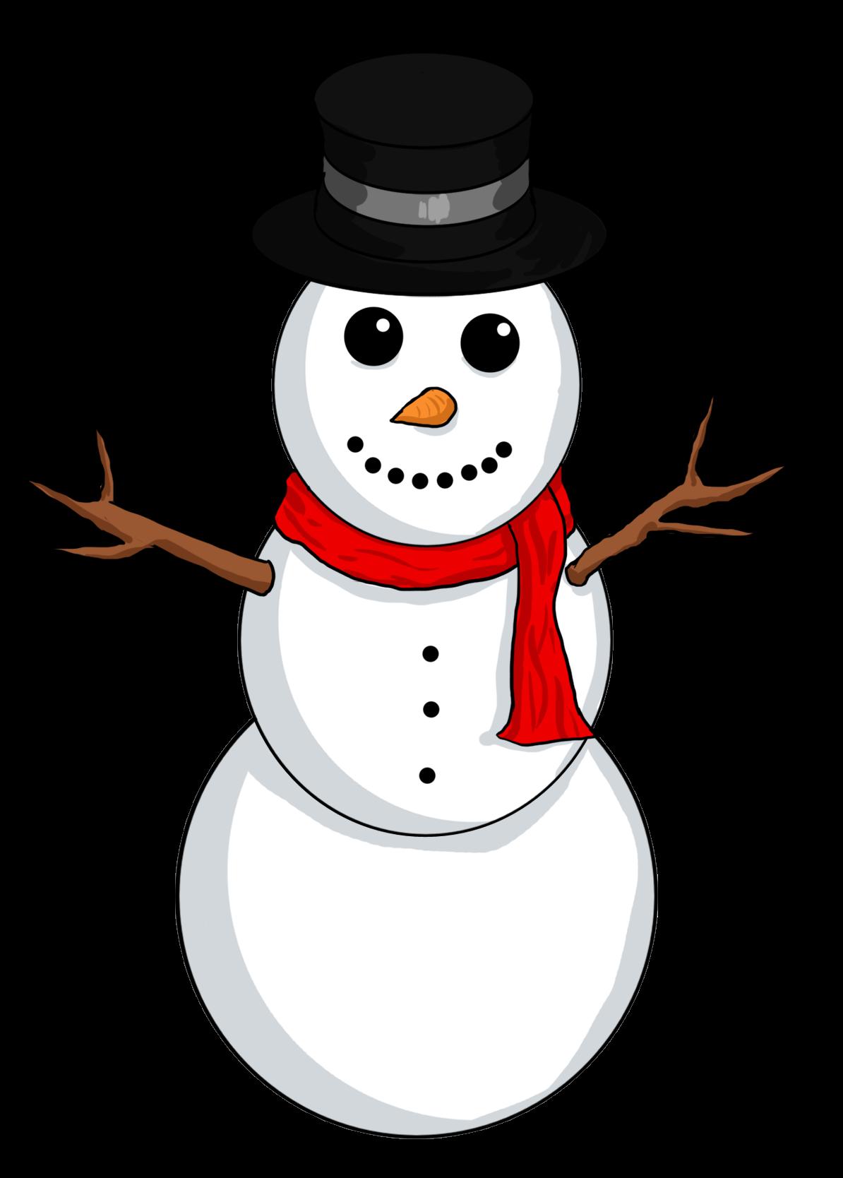 Fedora clipart snow man. Christmas snowman clipartix