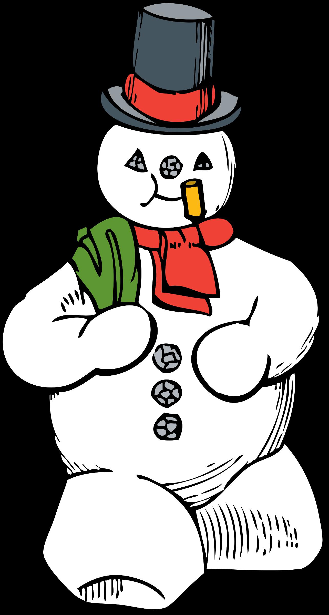 Clipart winter family. Snowman