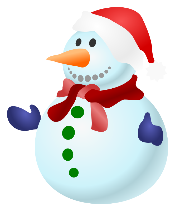 Free christmas . Snowman clipart colorful