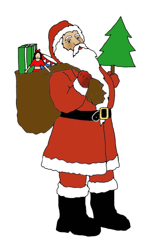 Funny and free santa. Elf clipart socks