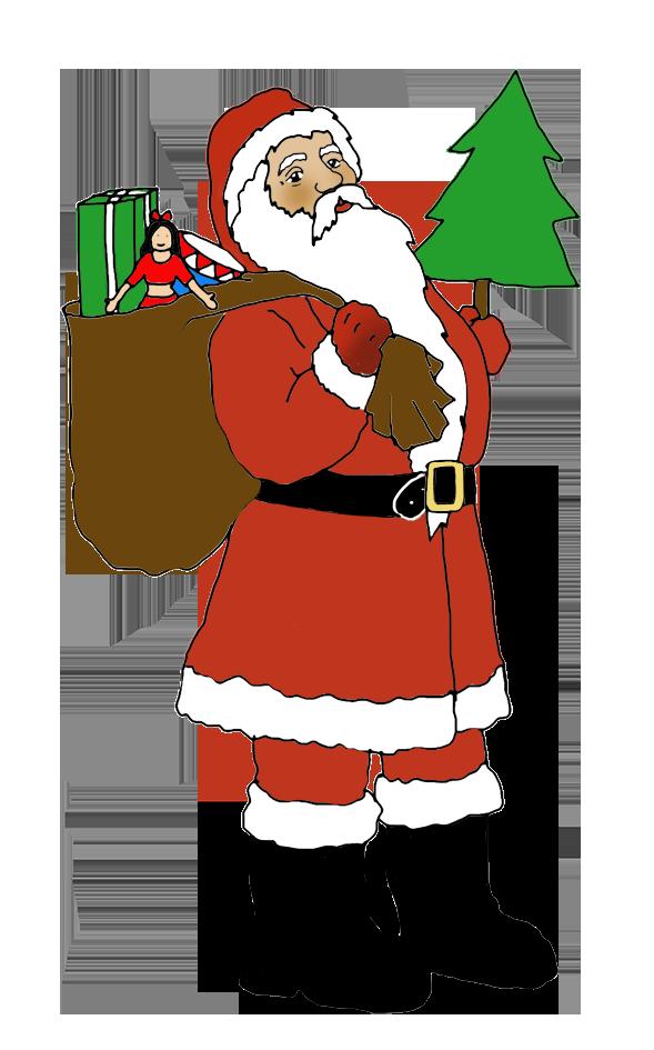 Funny and free santa. Clipart christmas song