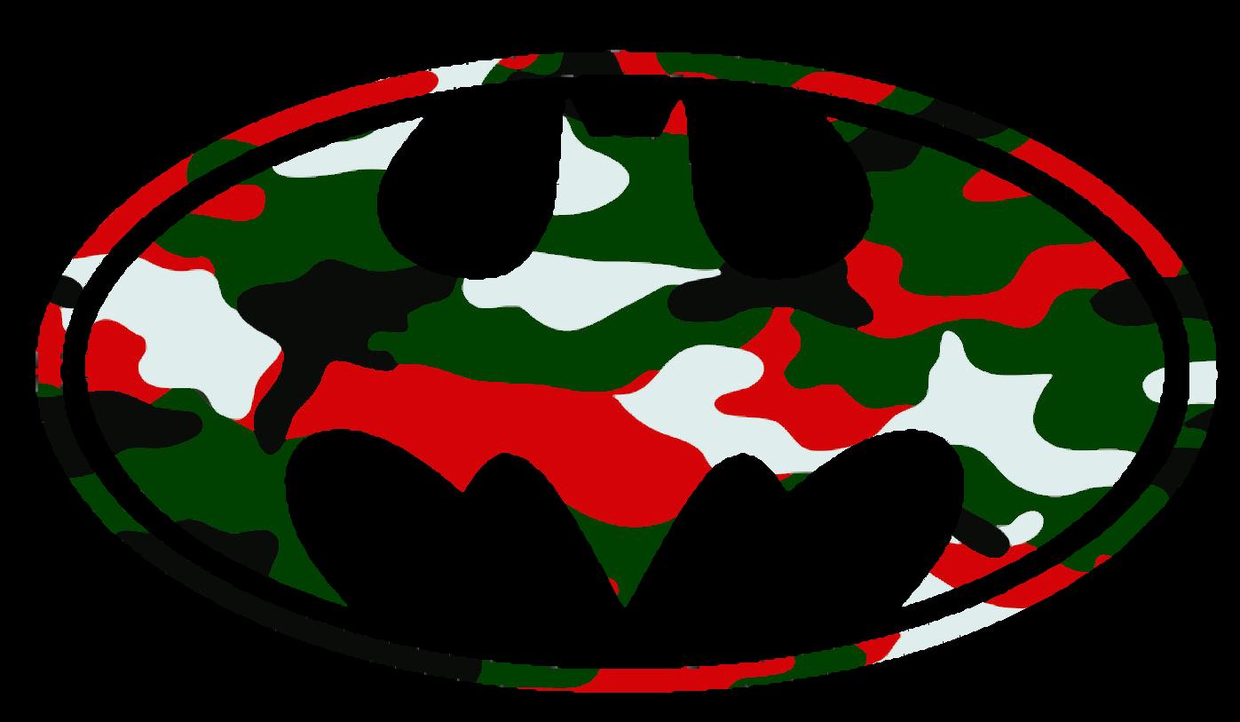 Face clipart batman. Logo christmas camo cut