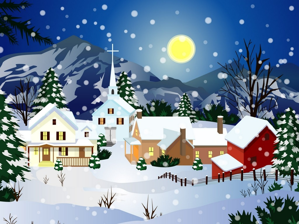 Free christmas cliparts download. Winter clipart village