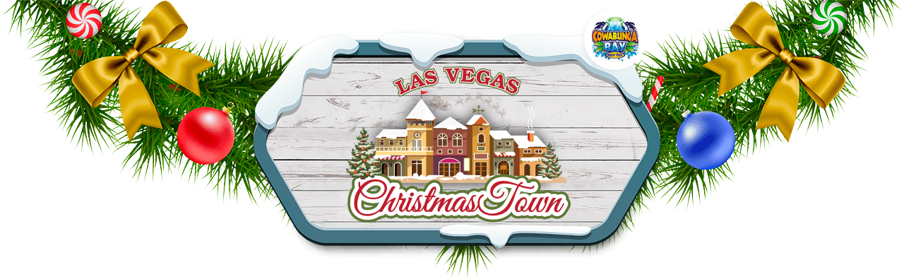 Las vegas christmas town. Door clipart holiday