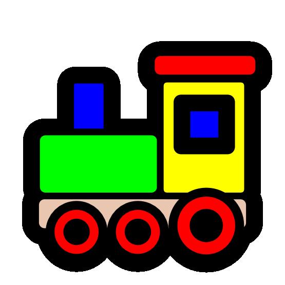 Clipart rocket train. Toy icon christmas xmas